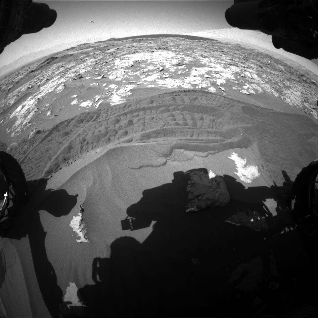Nasa's Mars rover Curiosity acquired this image using its Front Hazard Avoidance Camera (Front Hazcam) on Sol 1183, at drive 1334, site number 51