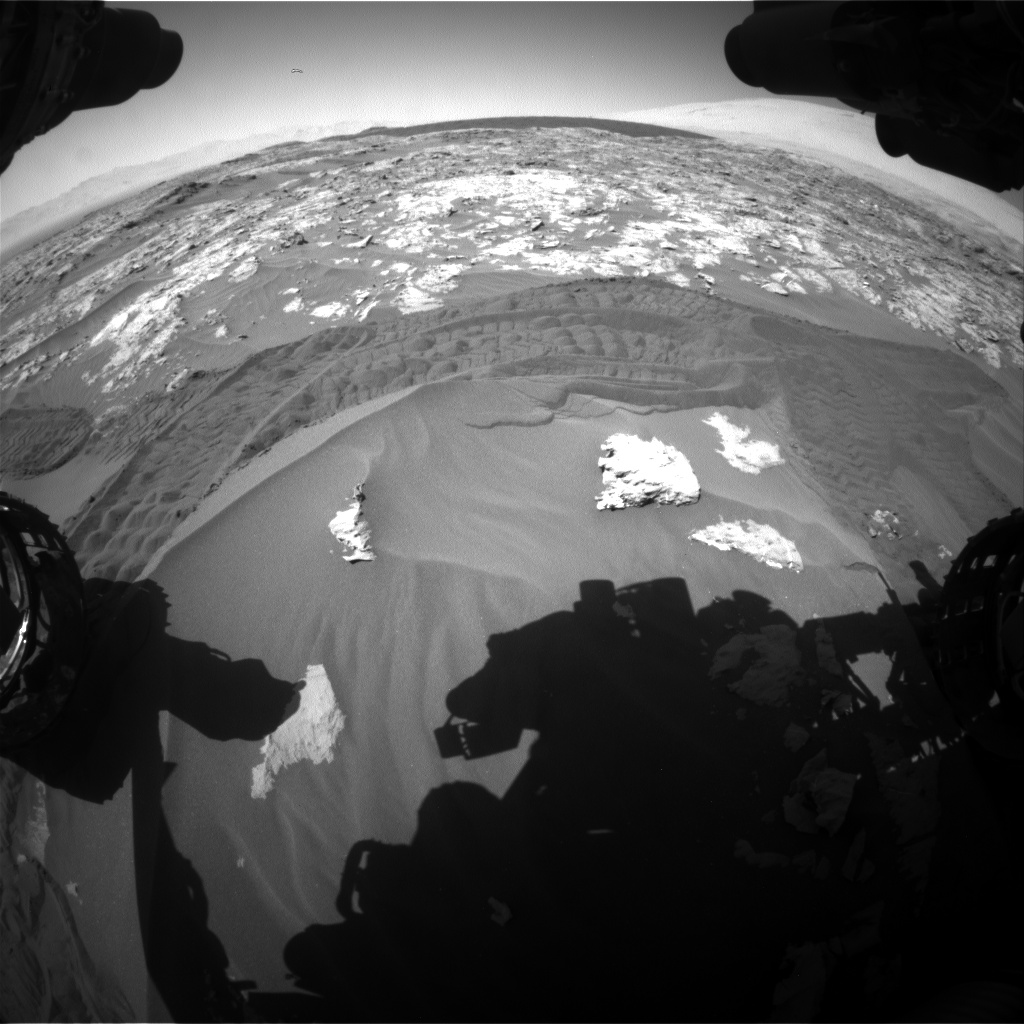 Nasa's Mars rover Curiosity acquired this image using its Front Hazard Avoidance Camera (Front Hazcam) on Sol 1183, at drive 1340, site number 51