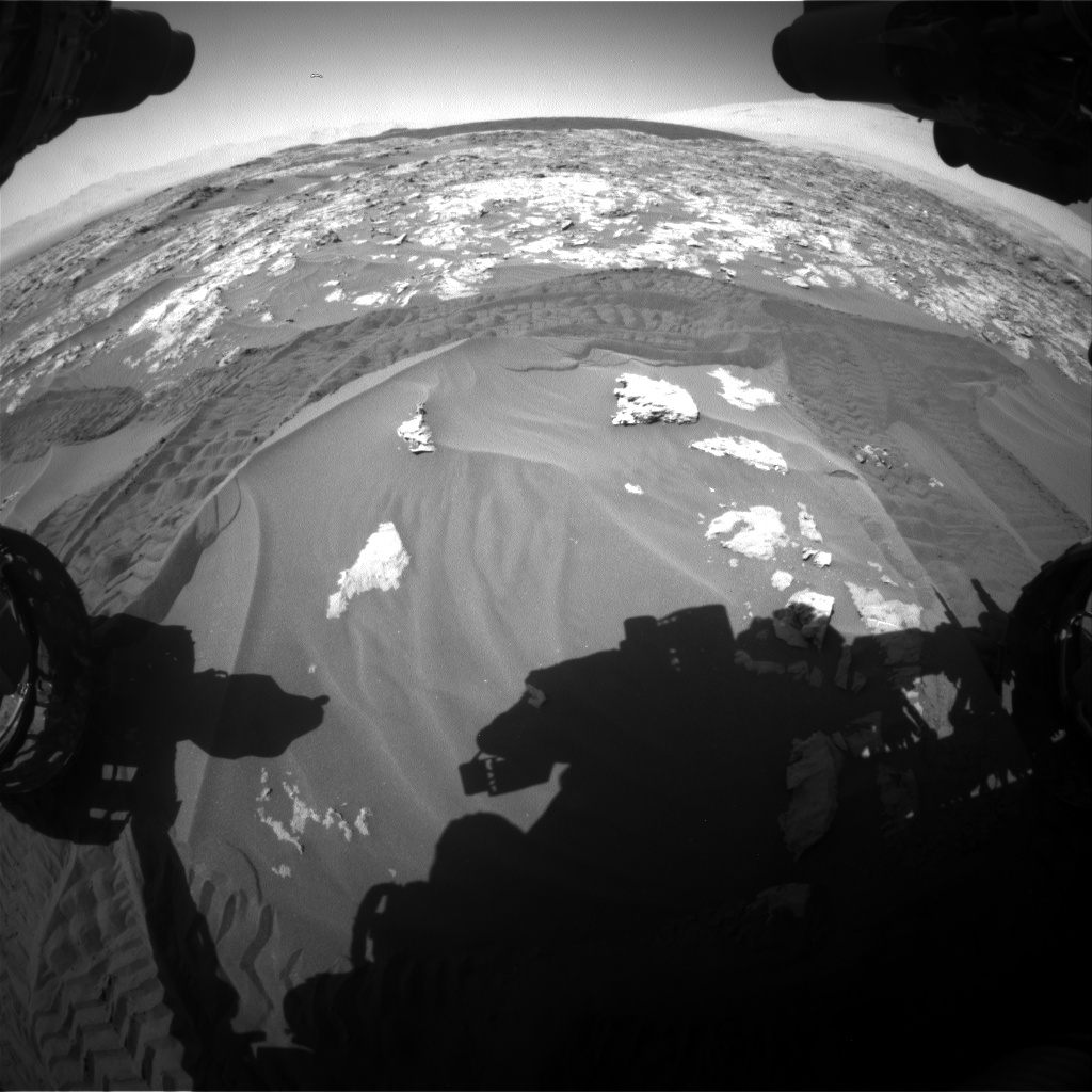 Nasa's Mars rover Curiosity acquired this image using its Front Hazard Avoidance Camera (Front Hazcam) on Sol 1183, at drive 1346, site number 51