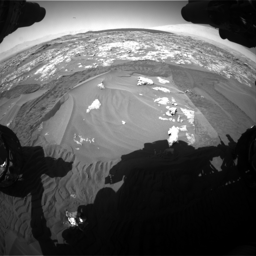 Nasa's Mars rover Curiosity acquired this image using its Front Hazard Avoidance Camera (Front Hazcam) on Sol 1183, at drive 1352, site number 51