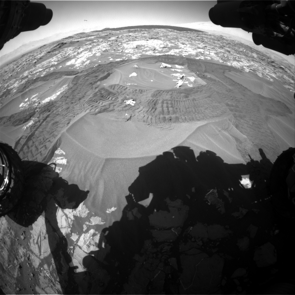 Nasa's Mars rover Curiosity acquired this image using its Front Hazard Avoidance Camera (Front Hazcam) on Sol 1183, at drive 1370, site number 51