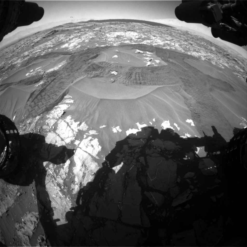 Nasa's Mars rover Curiosity acquired this image using its Front Hazard Avoidance Camera (Front Hazcam) on Sol 1183, at drive 1376, site number 51