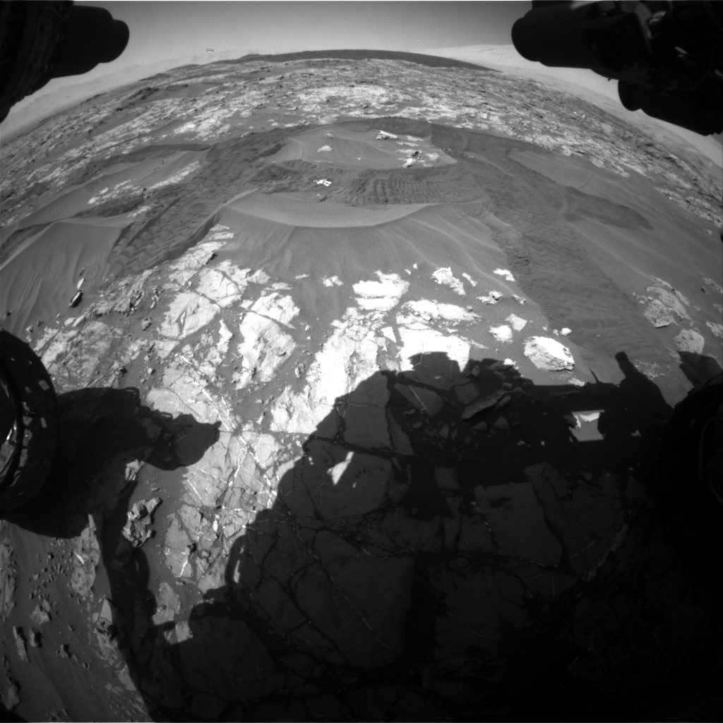 Nasa's Mars rover Curiosity acquired this image using its Front Hazard Avoidance Camera (Front Hazcam) on Sol 1183, at drive 1382, site number 51