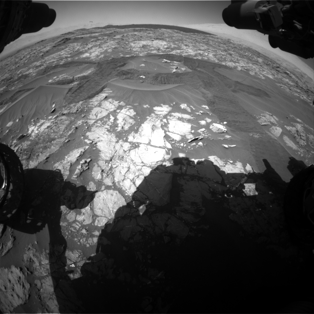 Nasa's Mars rover Curiosity acquired this image using its Front Hazard Avoidance Camera (Front Hazcam) on Sol 1183, at drive 1388, site number 51