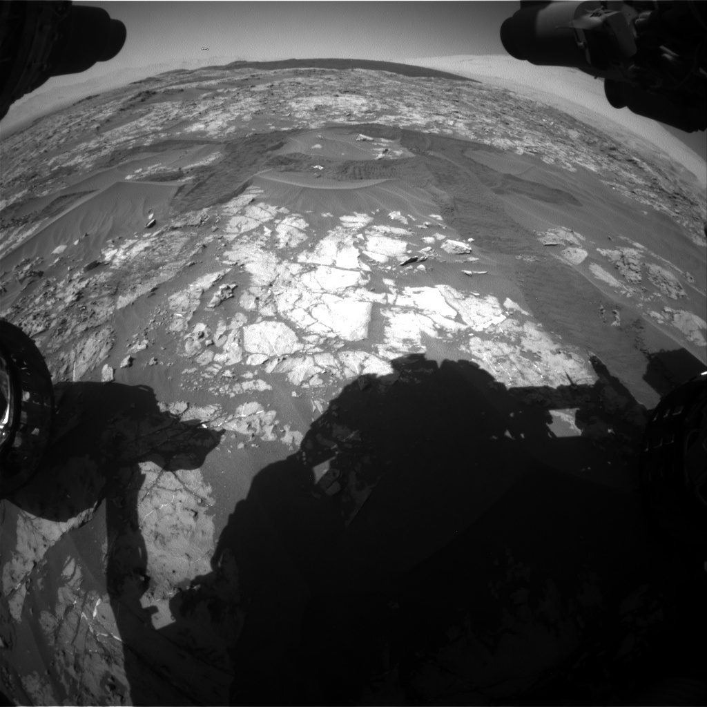 Nasa's Mars rover Curiosity acquired this image using its Front Hazard Avoidance Camera (Front Hazcam) on Sol 1183, at drive 1394, site number 51