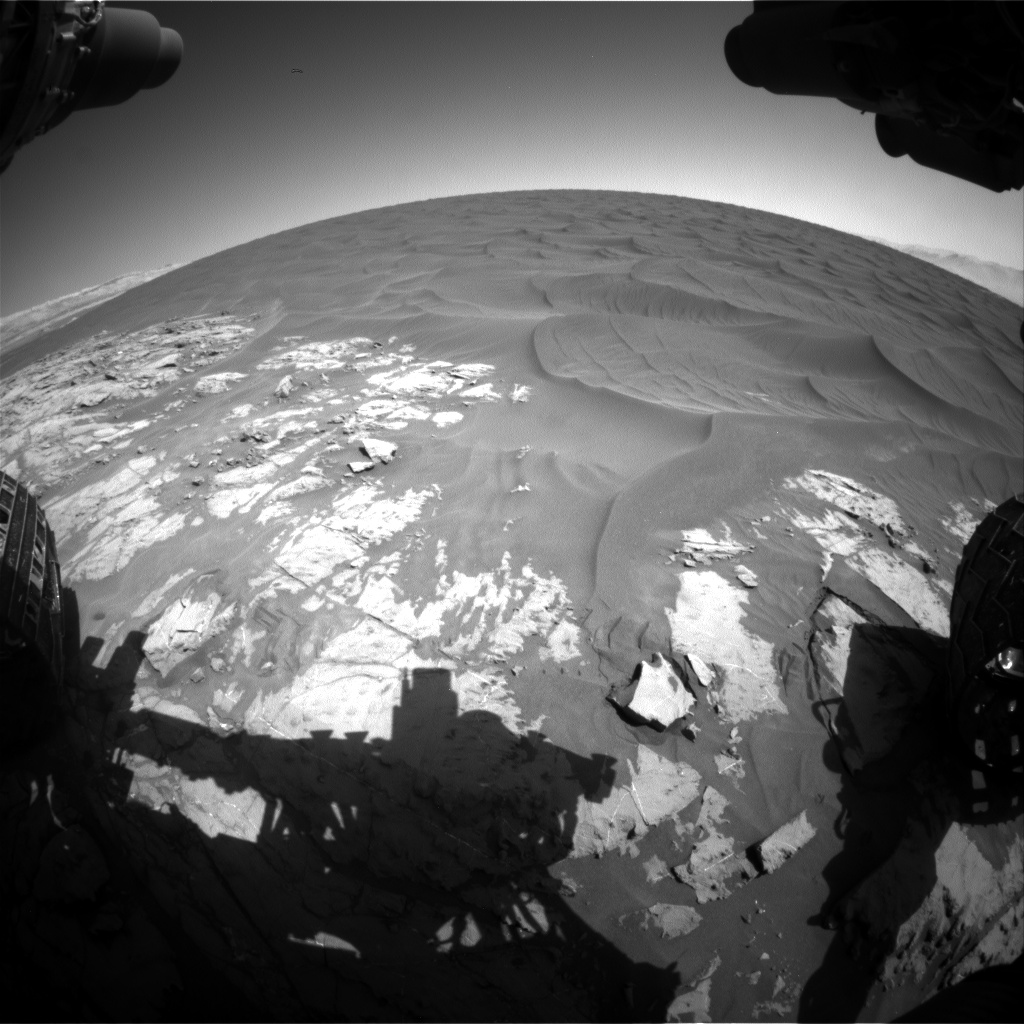 Nasa's Mars rover Curiosity acquired this image using its Front Hazard Avoidance Camera (Front Hazcam) on Sol 1183, at drive 1418, site number 51