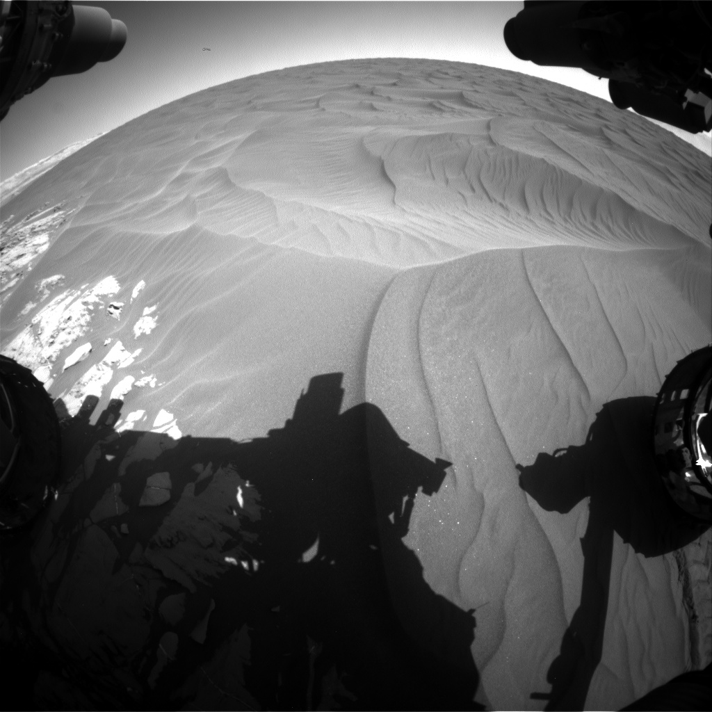 Nasa's Mars rover Curiosity acquired this image using its Front Hazard Avoidance Camera (Front Hazcam) on Sol 1183, at drive 1430, site number 51