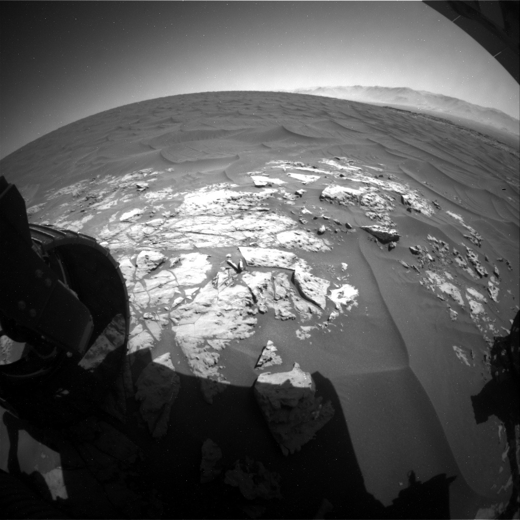 NASA's Mars rover Curiosity acquired this image using its Rear Hazard Avoidance Cameras (Rear Hazcams) on Sol 1183
