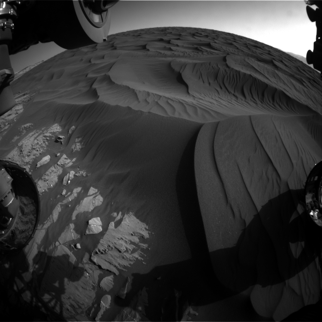 Nasa's Mars rover Curiosity acquired this image using its Front Hazard Avoidance Camera (Front Hazcam) on Sol 1184, at drive 1430, site number 51
