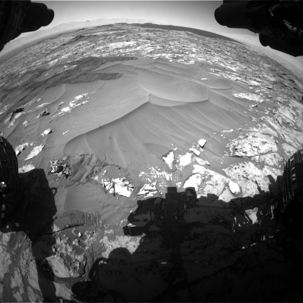 Nasa's Mars rover Curiosity acquired this image using its Front Hazard Avoidance Camera (Front Hazcam) on Sol 1185, at drive 1502, site number 51