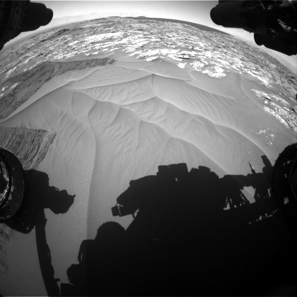 Nasa's Mars rover Curiosity acquired this image using its Front Hazard Avoidance Camera (Front Hazcam) on Sol 1185, at drive 1538, site number 51