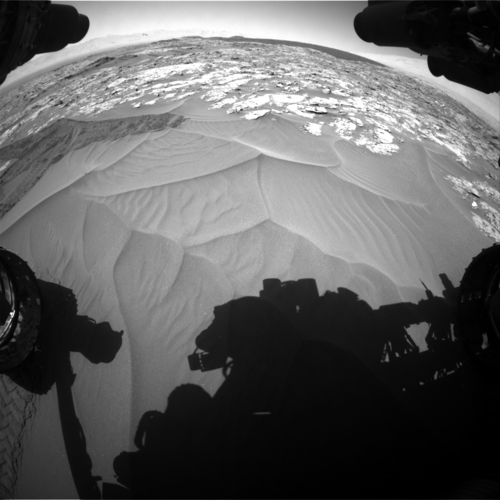 Nasa's Mars rover Curiosity acquired this image using its Front Hazard Avoidance Camera (Front Hazcam) on Sol 1185, at drive 1544, site number 51