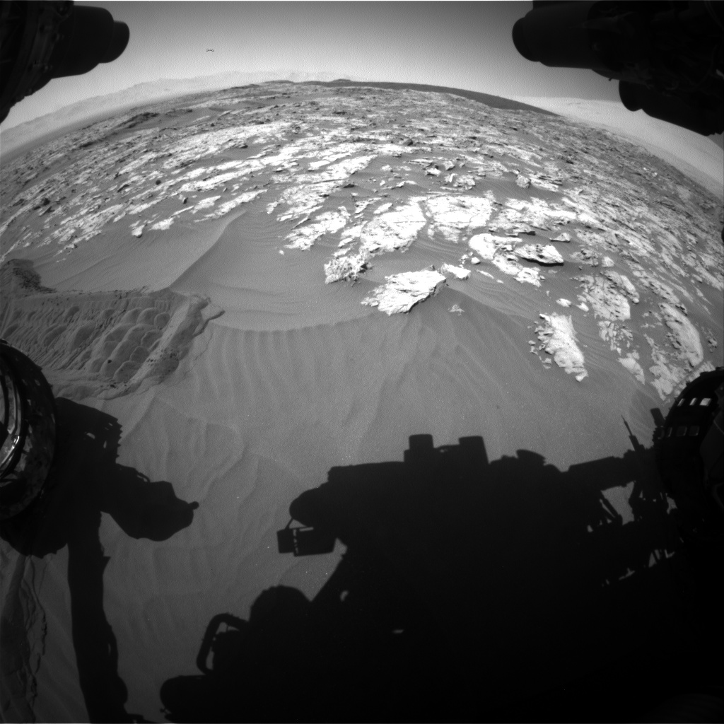 Nasa's Mars rover Curiosity acquired this image using its Front Hazard Avoidance Camera (Front Hazcam) on Sol 1185, at drive 1562, site number 51