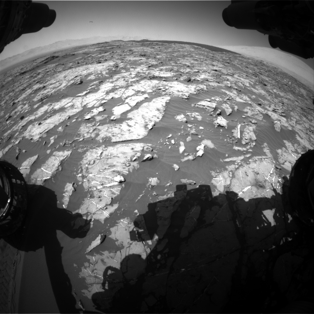 Nasa's Mars rover Curiosity acquired this image using its Front Hazard Avoidance Camera (Front Hazcam) on Sol 1185, at drive 1586, site number 51