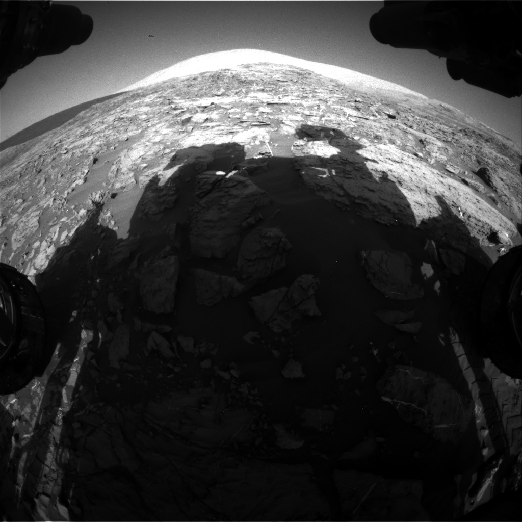 Nasa's Mars rover Curiosity acquired this image using its Front Hazard Avoidance Camera (Front Hazcam) on Sol 1185, at drive 1800, site number 51