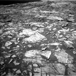 Nasa's Mars rover Curiosity acquired this image using its Left Navigation Camera on Sol 1185, at drive 1736, site number 51