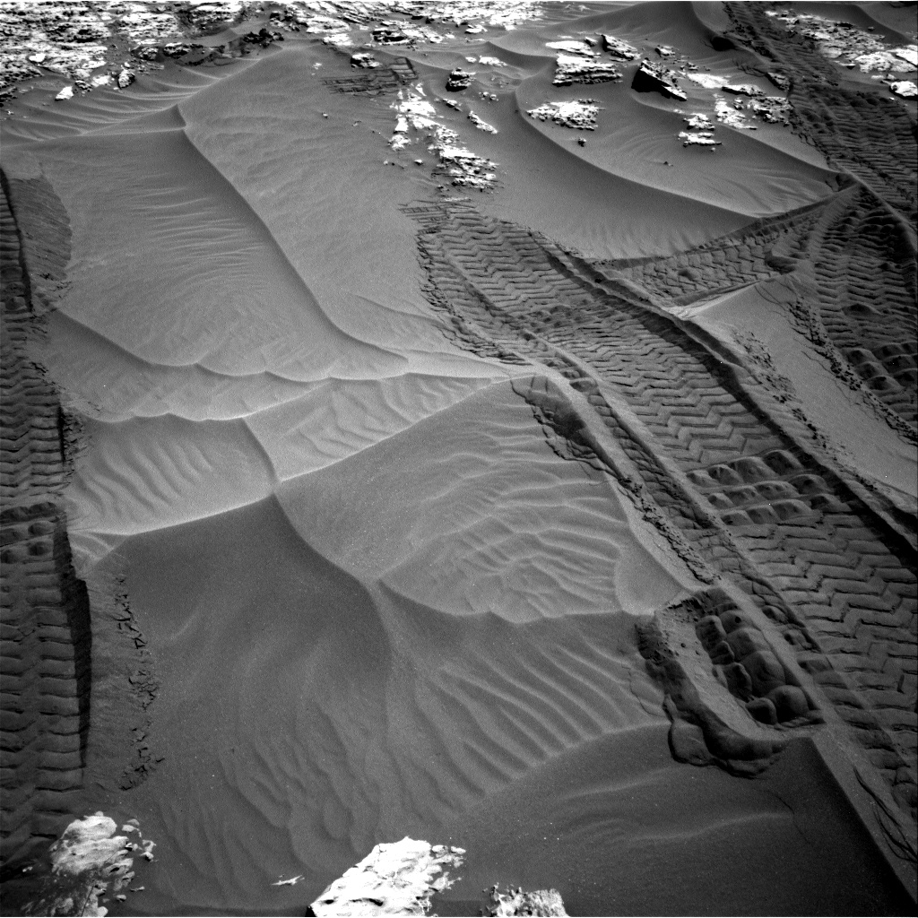 Nasa's Mars rover Curiosity acquired this image using its Right Navigation Camera on Sol 1185, at drive 1616, site number 51