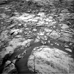 Nasa's Mars rover Curiosity acquired this image using its Right Navigation Camera on Sol 1185, at drive 1784, site number 51