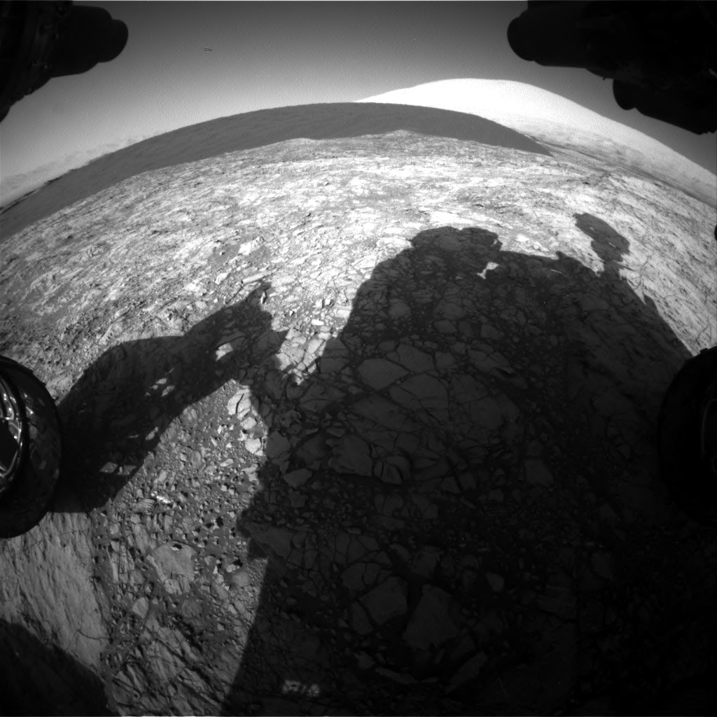 Nasa's Mars rover Curiosity acquired this image using its Front Hazard Avoidance Camera (Front Hazcam) on Sol 1187, at drive 2004, site number 51