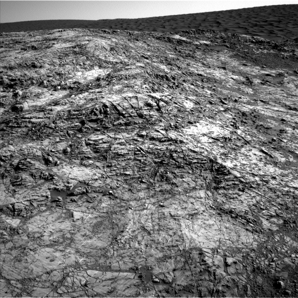 Nasa's Mars rover Curiosity acquired this image using its Left Navigation Camera on Sol 1187, at drive 2004, site number 51