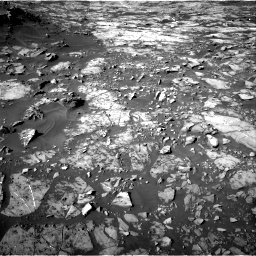 NASA's Mars rover Curiosity acquired this image using its Right Navigation Cameras (Navcams) on Sol 1187