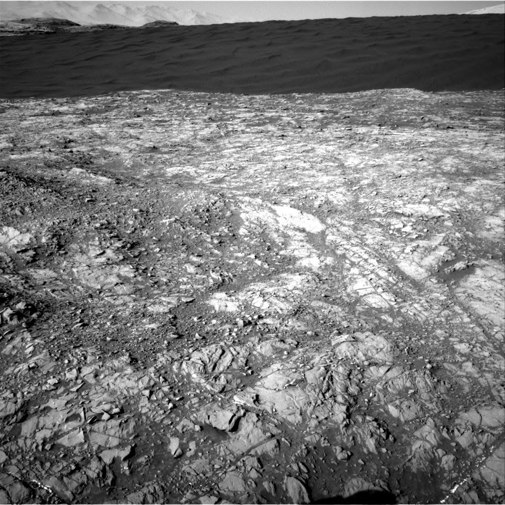 Nasa's Mars rover Curiosity acquired this image using its Right Navigation Camera on Sol 1187, at drive 1968, site number 51