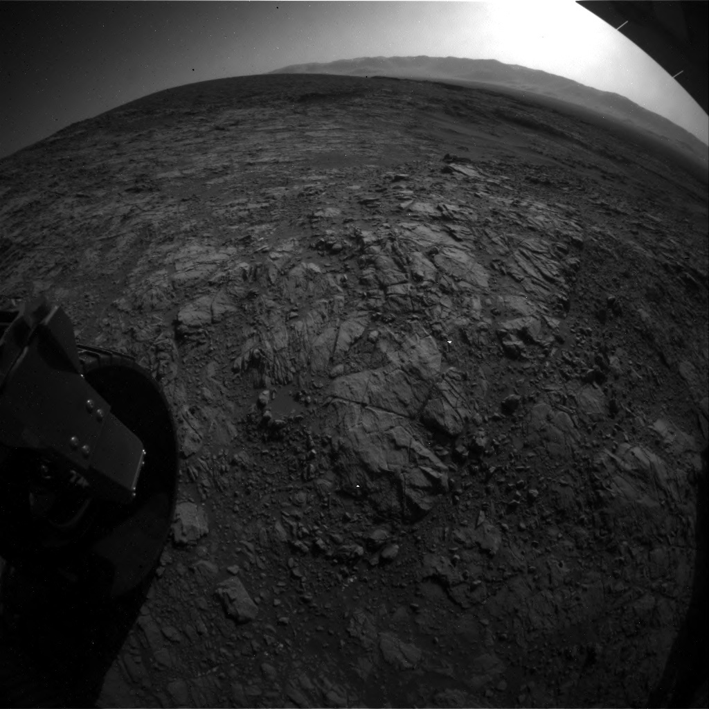 NASA's Mars rover Curiosity acquired this image using its Rear Hazard Avoidance Cameras (Rear Hazcams) on Sol 1187