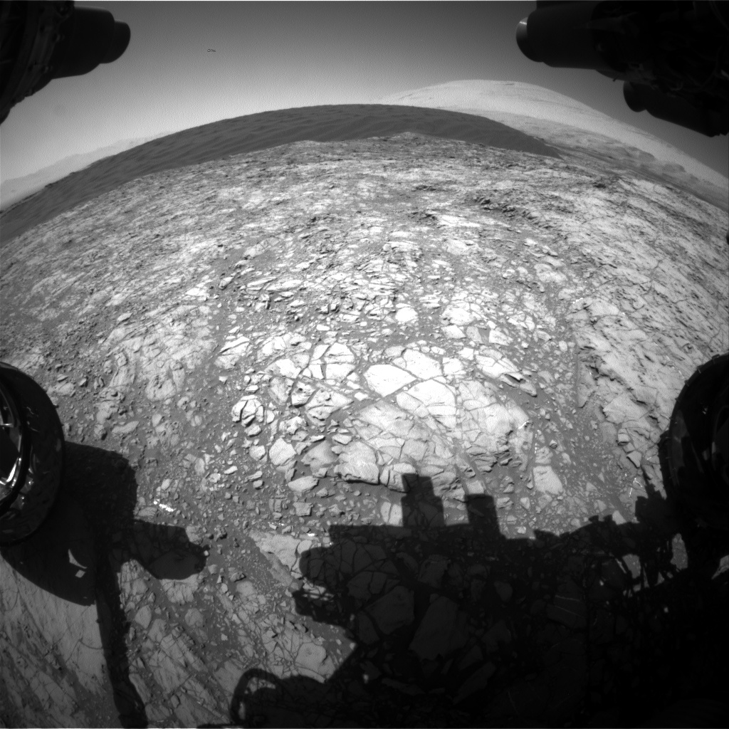 Nasa's Mars rover Curiosity acquired this image using its Front Hazard Avoidance Camera (Front Hazcam) on Sol 1188, at drive 2004, site number 51