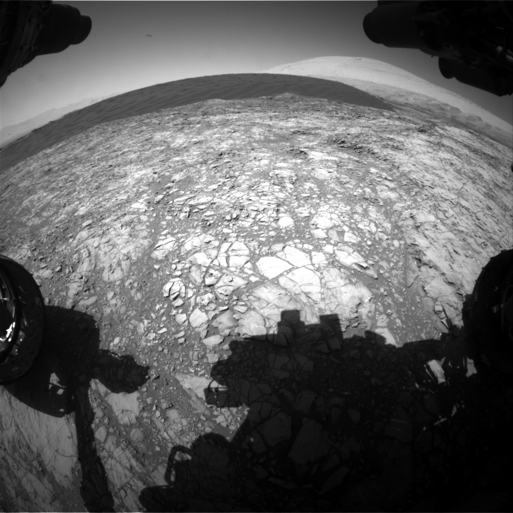 NASA's Mars rover Curiosity acquired this image using its Front Hazard Avoidance Cameras (Front Hazcams) on Sol 1189