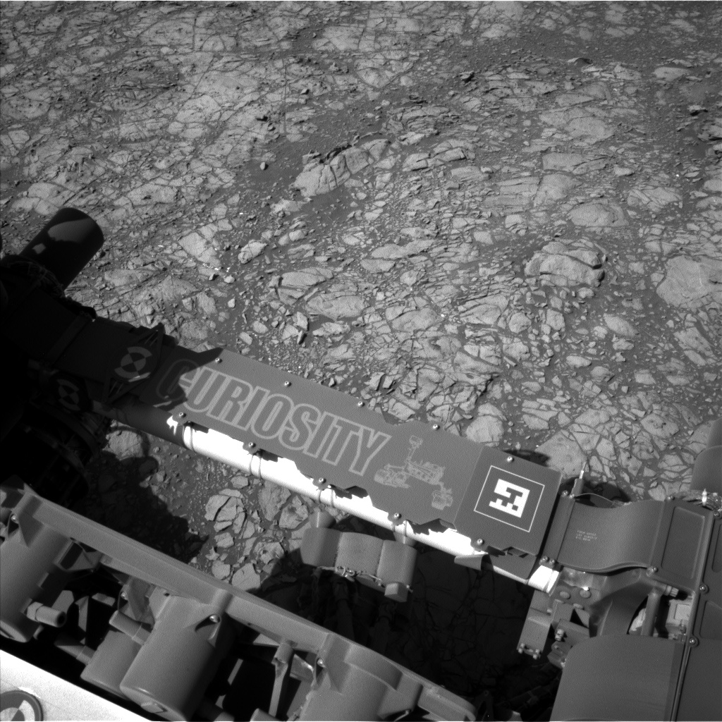 Nasa's Mars rover Curiosity acquired this image using its Left Navigation Camera on Sol 1189, at drive 2004, site number 51