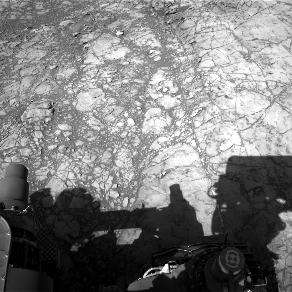 Nasa's Mars rover Curiosity acquired this image using its Right Navigation Camera on Sol 1189, at drive 2004, site number 51