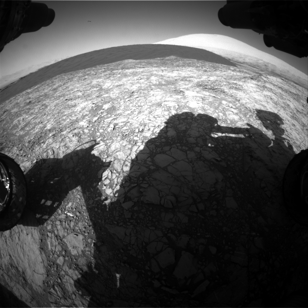 Nasa's Mars rover Curiosity acquired this image using its Front Hazard Avoidance Camera (Front Hazcam) on Sol 1190, at drive 2004, site number 51