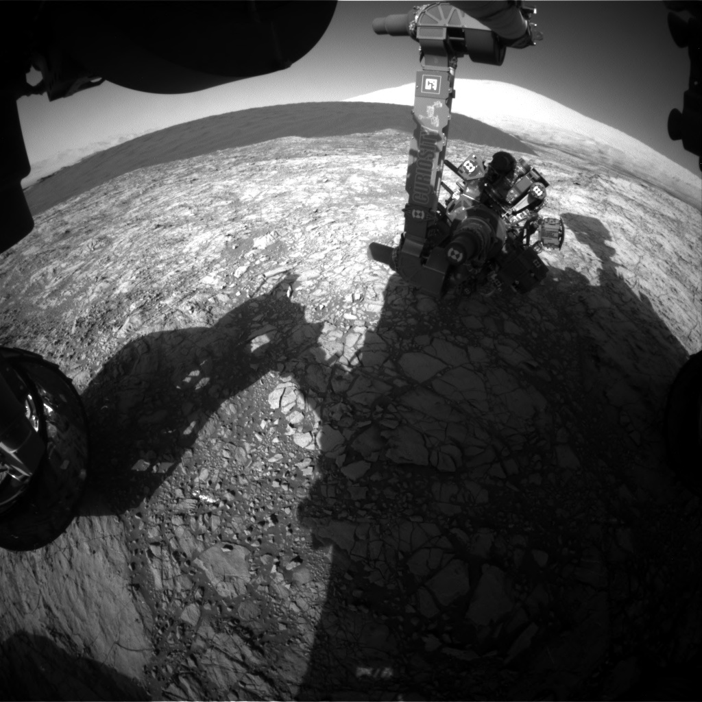 Nasa's Mars rover Curiosity acquired this image using its Front Hazard Avoidance Camera (Front Hazcam) on Sol 1191, at drive 2004, site number 51