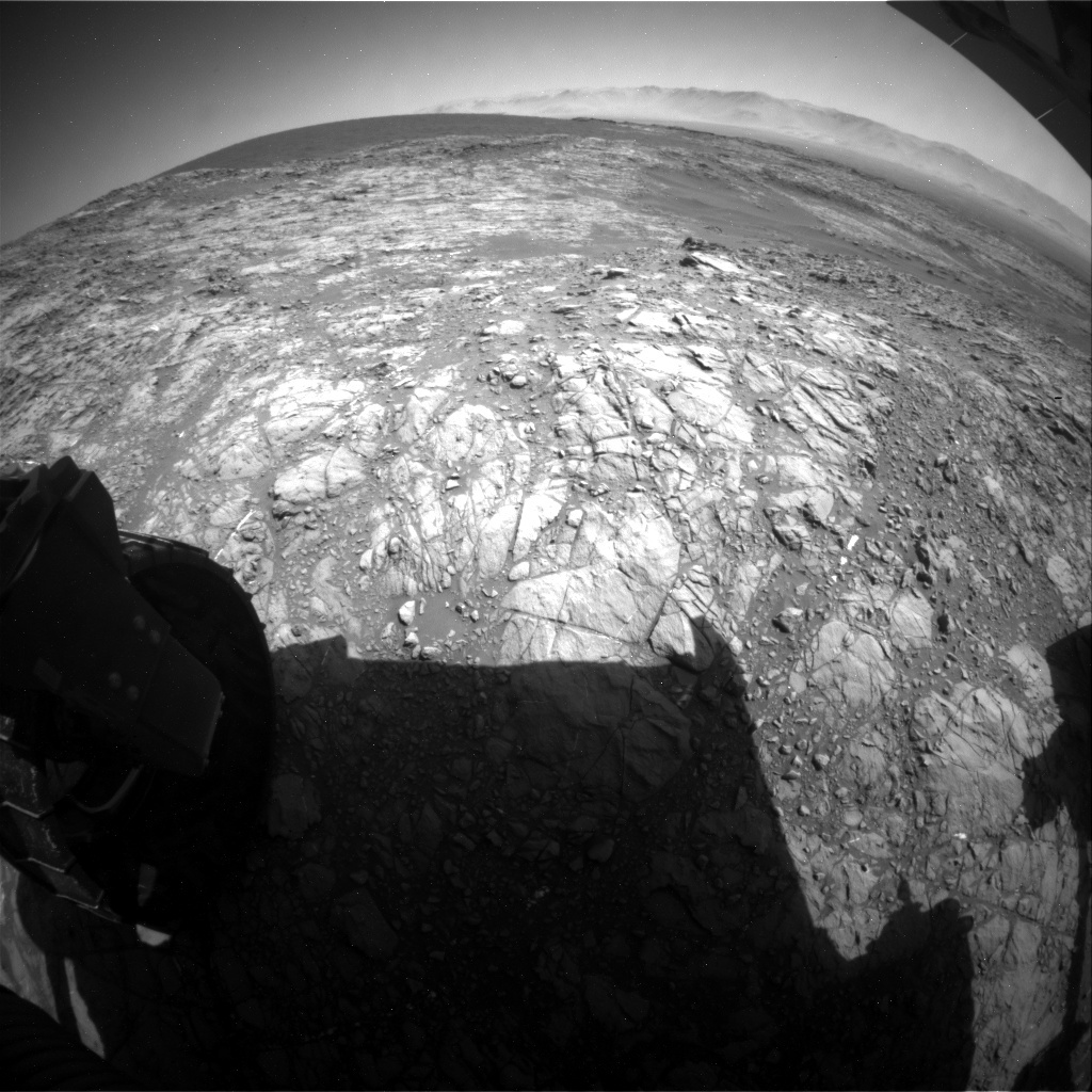 NASA's Mars rover Curiosity acquired this image using its Rear Hazard Avoidance Cameras (Rear Hazcams) on Sol 1191