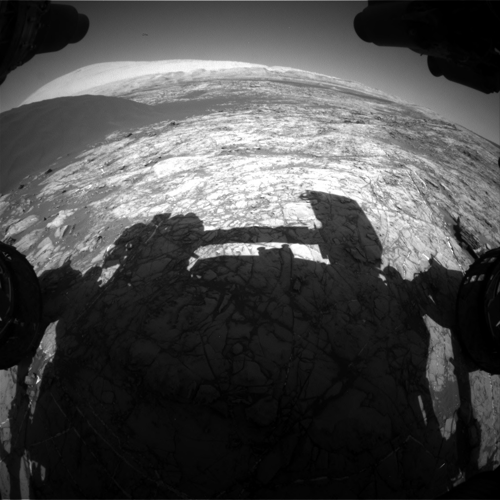 Nasa's Mars rover Curiosity acquired this image using its Front Hazard Avoidance Camera (Front Hazcam) on Sol 1192, at drive 2322, site number 51