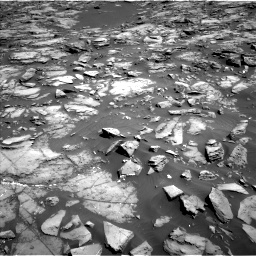 Nasa's Mars rover Curiosity acquired this image using its Left Navigation Camera on Sol 1192, at drive 2208, site number 51