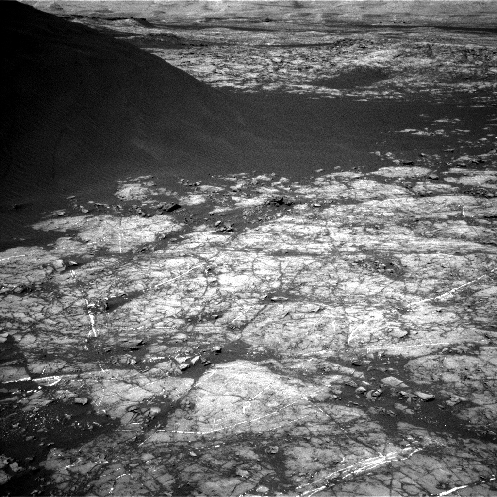 Nasa's Mars rover Curiosity acquired this image using its Left Navigation Camera on Sol 1192, at drive 2322, site number 51