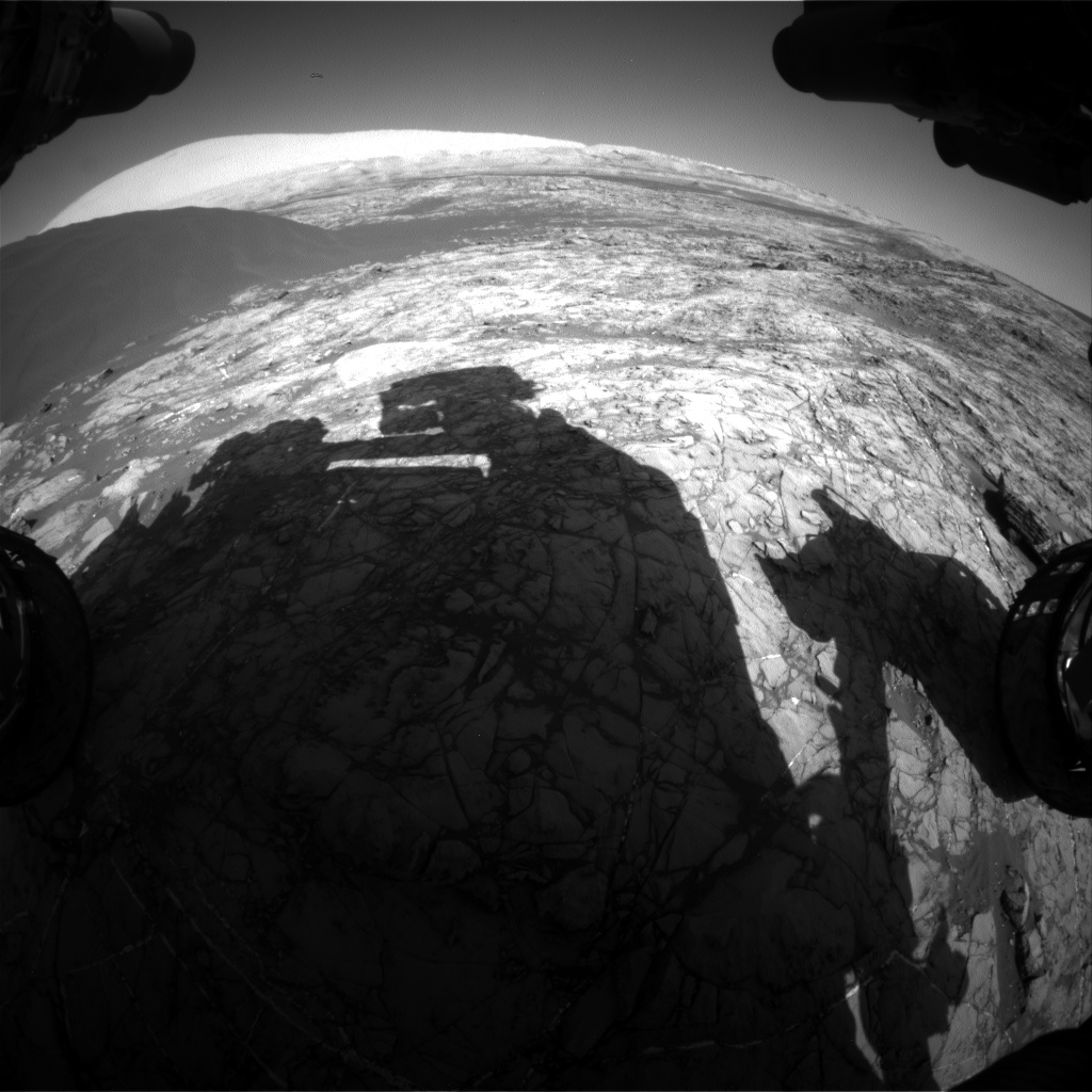 Nasa's Mars rover Curiosity acquired this image using its Front Hazard Avoidance Camera (Front Hazcam) on Sol 1193, at drive 2322, site number 51