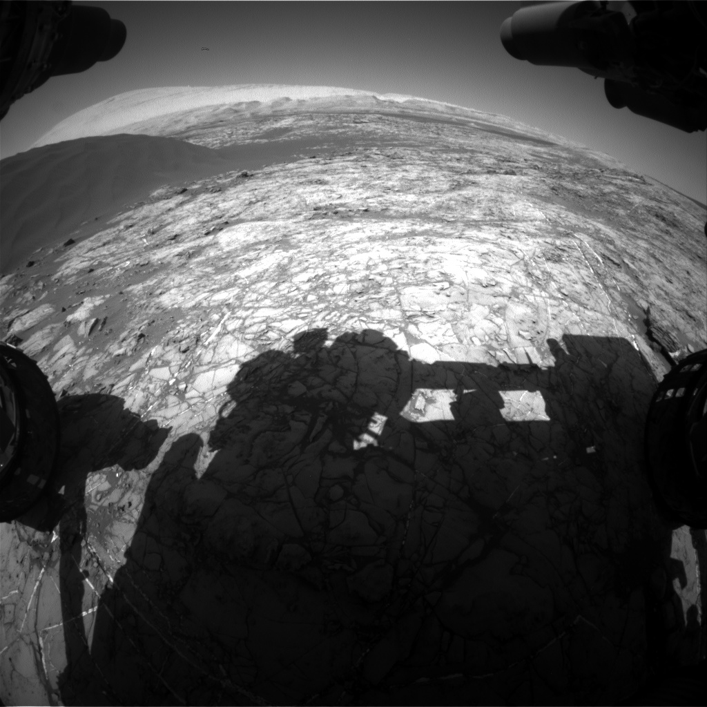 Nasa's Mars rover Curiosity acquired this image using its Front Hazard Avoidance Camera (Front Hazcam) on Sol 1194, at drive 2322, site number 51