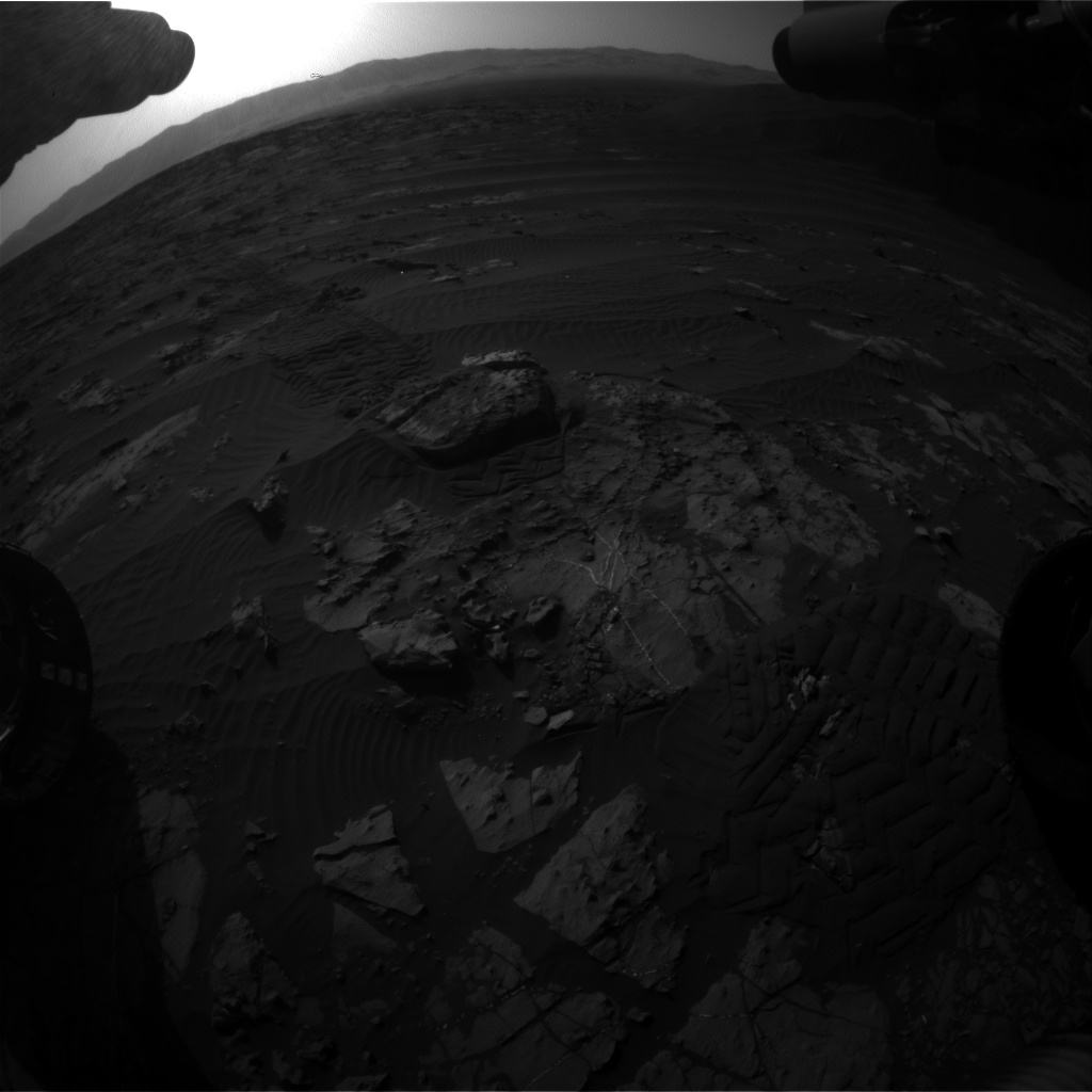 Nasa's Mars rover Curiosity acquired this image using its Front Hazard Avoidance Camera (Front Hazcam) on Sol 1194, at drive 2704, site number 51