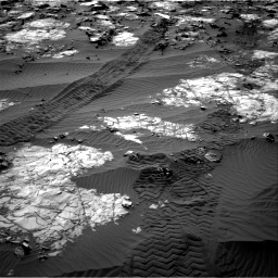 Nasa's Mars rover Curiosity acquired this image using its Right Navigation Camera on Sol 1194, at drive 2574, site number 51