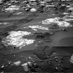 Nasa's Mars rover Curiosity acquired this image using its Right Navigation Camera on Sol 1194, at drive 2580, site number 51