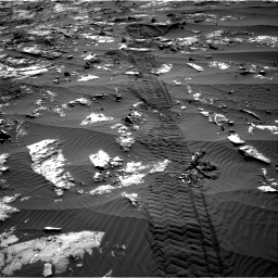 Nasa's Mars rover Curiosity acquired this image using its Right Navigation Camera on Sol 1194, at drive 2688, site number 51