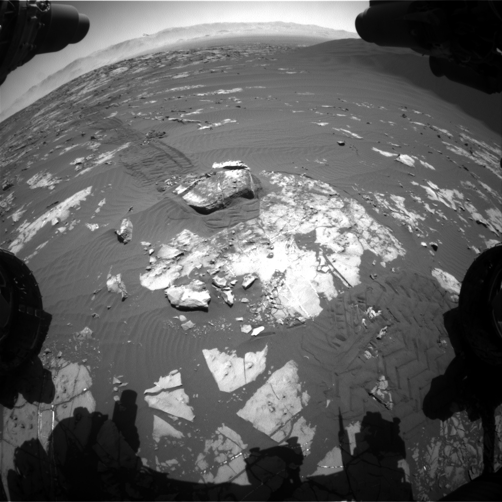 Nasa's Mars rover Curiosity acquired this image using its Front Hazard Avoidance Camera (Front Hazcam) on Sol 1195, at drive 2704, site number 51