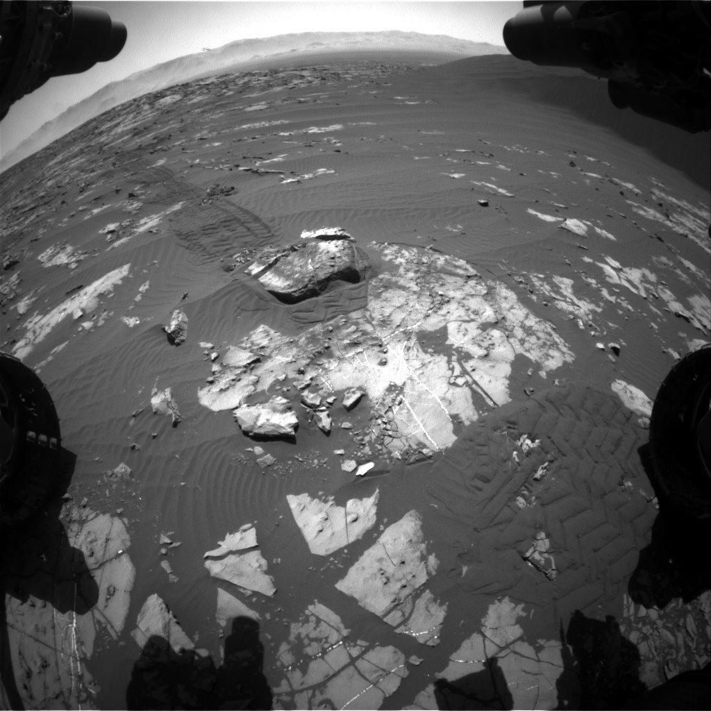 Nasa's Mars rover Curiosity acquired this image using its Front Hazard Avoidance Camera (Front Hazcam) on Sol 1196, at drive 2704, site number 51
