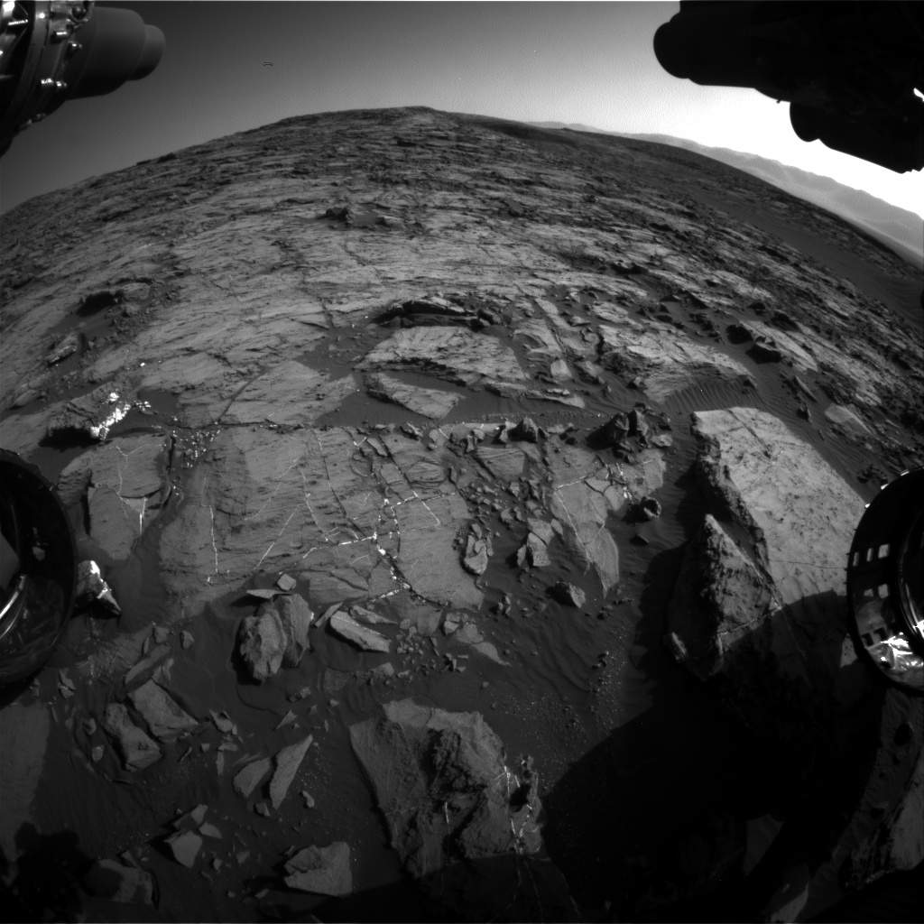 Nasa's Mars rover Curiosity acquired this image using its Front Hazard Avoidance Camera (Front Hazcam) on Sol 1196, at drive 0, site number 52