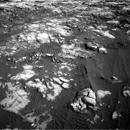 Nasa's Mars rover Curiosity acquired this image using its Right Navigation Camera on Sol 1196, at drive 2758, site number 51