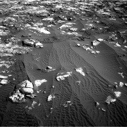 Nasa's Mars rover Curiosity acquired this image using its Right Navigation Camera on Sol 1196, at drive 2764, site number 51