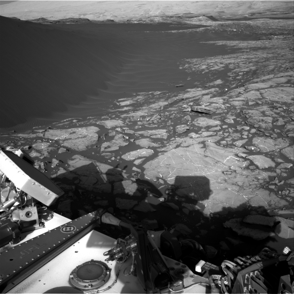 Nasa's Mars rover Curiosity acquired this image using its Right Navigation Camera on Sol 1196, at drive 0, site number 52