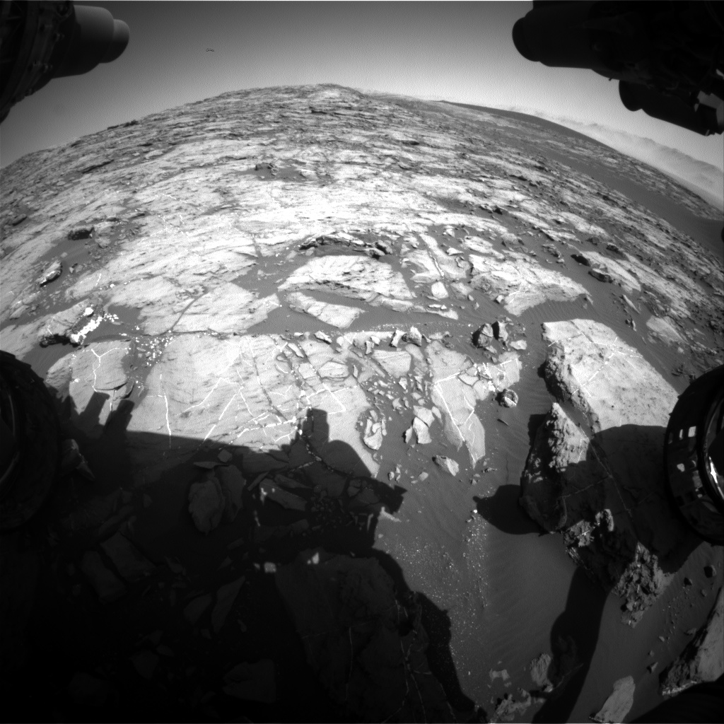Nasa's Mars rover Curiosity acquired this image using its Front Hazard Avoidance Camera (Front Hazcam) on Sol 1197, at drive 0, site number 52